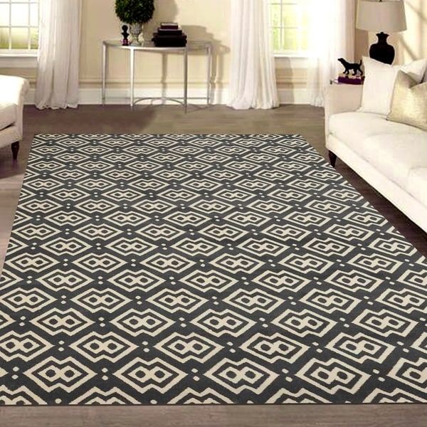 Admire Home Living Bronte Disc Dark Grey Area Rug - 7'10 x 10'6