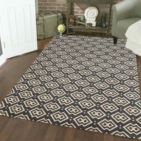 Admire Home Living Bronte Disc Dark Grey Area Rug (7'10 x 10'6)