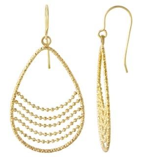 14k Yellow Gold Dangling Drop Earrings