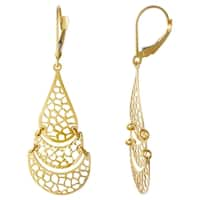 14k Yellow Gold Chandelier Love Earrings