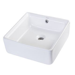 Eago BA130 Square Ceramic Bathroom Sink