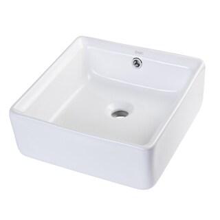 Eago BA130 Square Ceramic Bathroom Sink