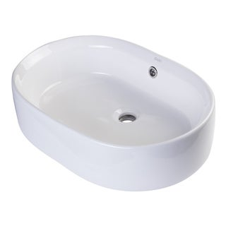 Eago BA132 Oval Ceramic Vessel Sink