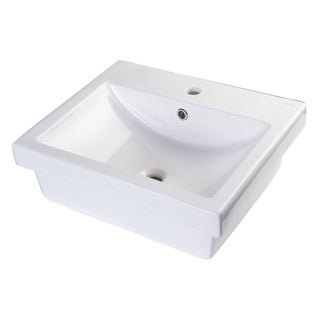 EAGO BA134 Porcelain 21-inch Bathroom Vessel Sink with Single Hole