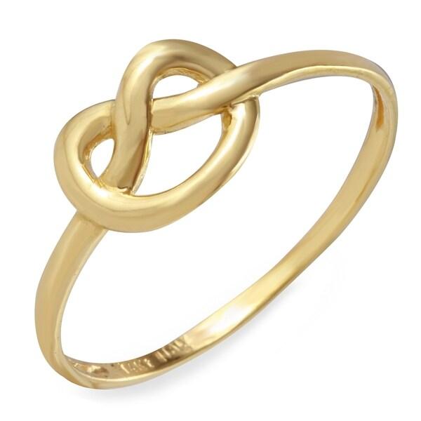 14k italian yellow gold pretzel ring size 7 free