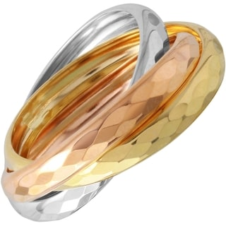 14k Tricolor Gold Ring (Size 7)