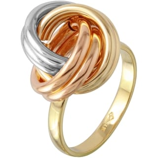 14k Tricolor Gold Knot Ring (Size 7)