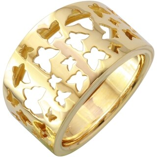 14k Yellow Gold Butterfly Ring (Size 7)