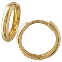 Girls' 14k Yellow Gold Hoop Earrings