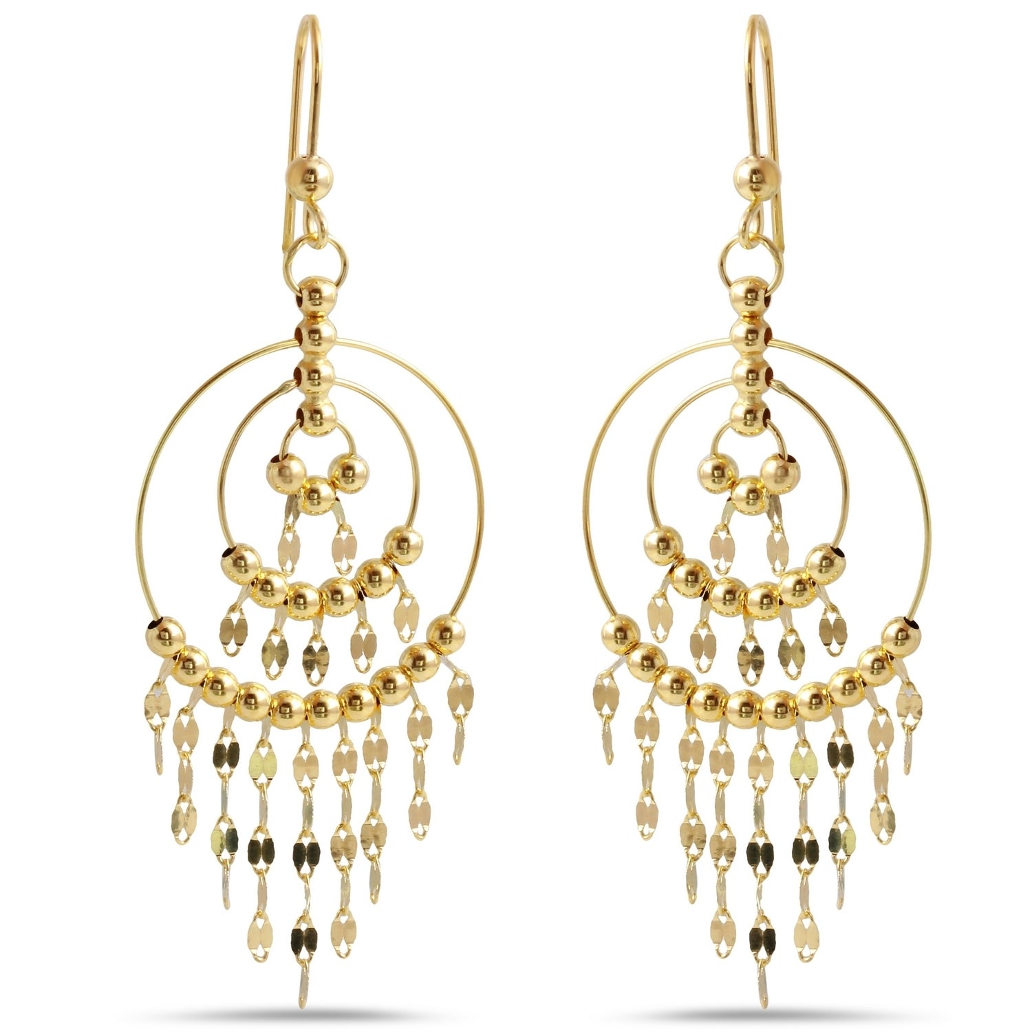 macys rose jewelry drop italian textured tri white disc macy lyst gold in designer and linear tone s gallery earrings