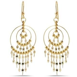 14k Yellow Gold Italian Chandelier Dangle Earrings