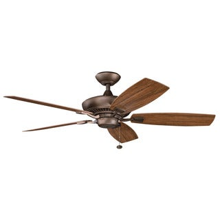 Kichler Lighting Canfield Patio Collection 52-inch Weathered Copper Powder Coat Ceiling Fan