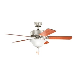 Kichler Lighting Renew Select Collection 50-inch Brushed Nickel Ceiling Fan w/Light