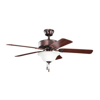 Kichler Lighting Renew Select Collection 50-inch Oil Brushed Bronze Ceiling Fan w/Light