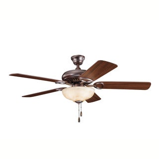 Kichler Lighting Sutter Place Select Collection 52-inch Oil Brushed Bronze Ceiling Fan w/Light