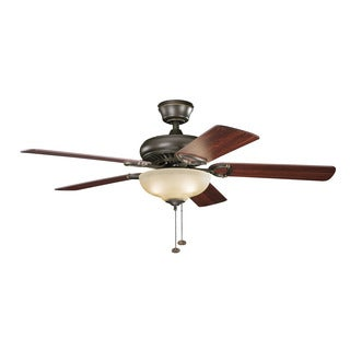 Kichler Lighting Sutter Place Select Collection 52-inch Olde Bronze Ceiling Fan w/Light
