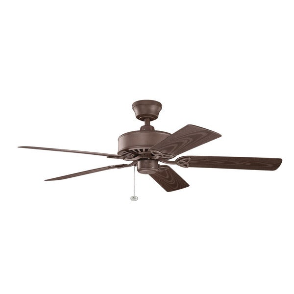 Kichler Lighting Renew Patio Collection 52-inch Tannery Bronze Powder Coat Ceiling Fan - Free ...