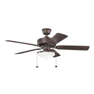 Kichler Lighting Renew Select Patio Collection 52-inch Tannery Bronze Powder Coat Ceiling Fan w/Light