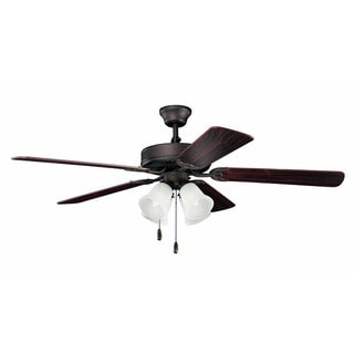 Kichler Lighting Traditional 52-inch Satin Natural Bronze Ceiling Fan w/Lights