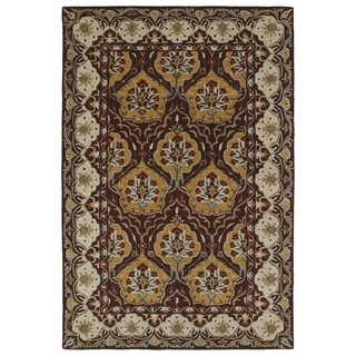 Hand-Tufted Perry Panel Wine Wool Rug (2'0 x 3'0)