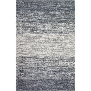 Handmade Fab Habitat Recycled Cotton Lucent Blue Rug (India)