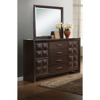 Global Coco Brown MDF/Faux Leather Dresser