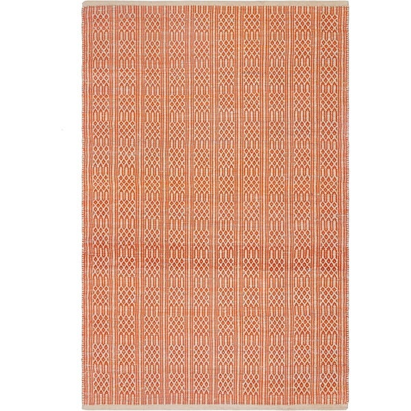 Handmade Fab Habitat Recycled Cotton Belfast Apricot Rug India