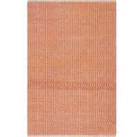 Handmade Fab Habitat Recycled Cotton Belfast Apricot Rug (India)