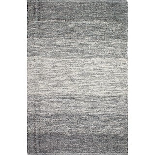 Fab Habitat Recycled Cotton Lucent Black Rug
