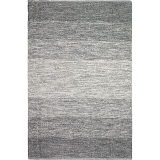 Handmade Fab Habitat Recycled Cotton Lucent Black Rug (India)