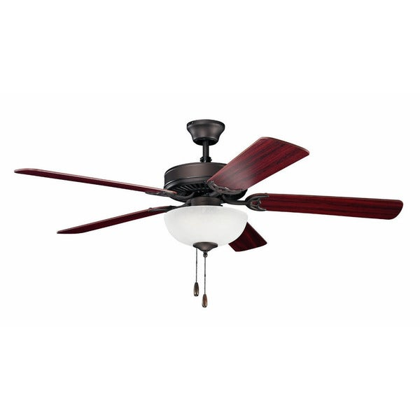 Kichler Lighting Traditional 52-inch Satin Natural Bronze Ceiling Fan w/Light