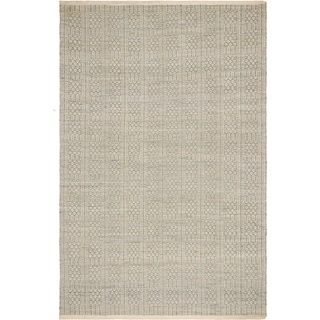 Handmade Fab Habitat Recycled Cotton Belfast Desert Sage Rug (India) (Option: 7' X 10')