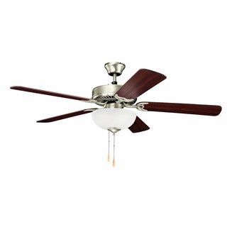 Kichler Lighting Traditional 52-inch Brushed Nickel Ceiling Fan w/Light
