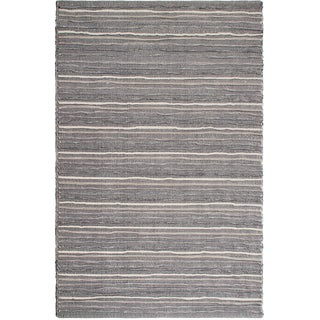 Handmade Fab Habitat Recycled Cotton Formosa Grey Rug (India)