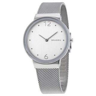 Skagen Women's Freja Silvertone Dial Mesh Stainless Steel Bracelet Watch