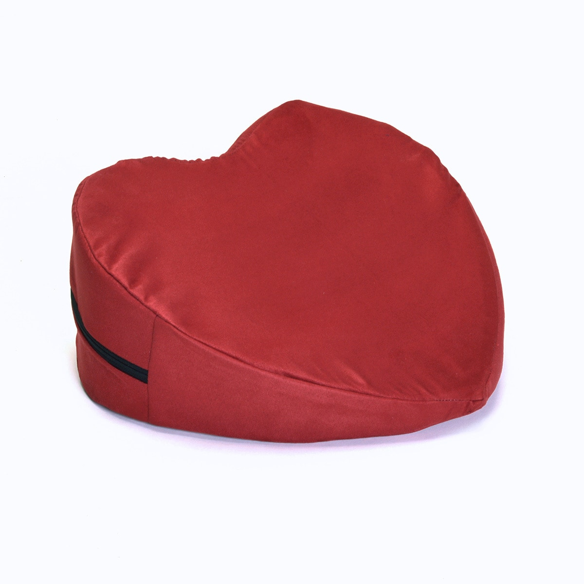 Hermell Heart-shaped Large Pleasure Wedge Pillow, Red wine