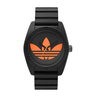 Adidas Men's Santiago Black Silicone Quartz Watch