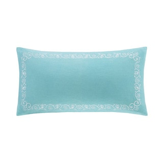 Echo Design Madira Teal Cotton Oblong Pillow
