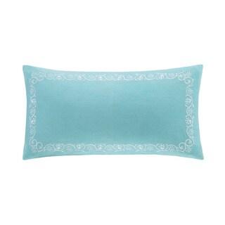 Echo Design Madira Teal Cotton Oblong Pillow