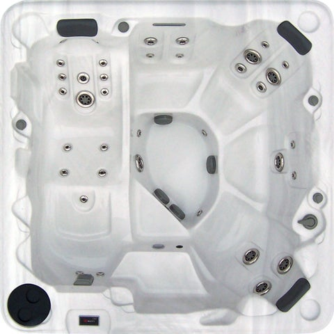 Bayview Spas Summerville Silvertone Acrylic/Stainless Steel 7-foot 88-jet Hot Tub With Lounger
