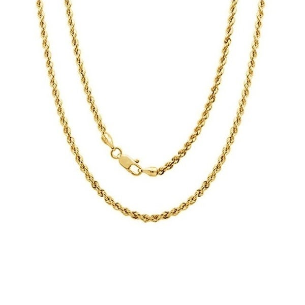 14k Yellow Gold Rope Chain. Opens flyout.