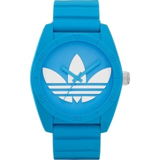 Adidas Men's Santiago Blue Rubber Quartz Watch