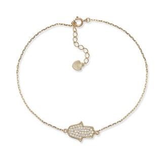 14k Gold Crystal Micro Pave Bracelet