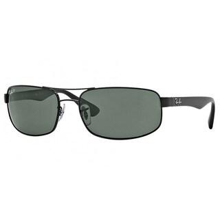 Ray-Ban RB3445 002/58 Black Frame Polarized Green 61mm Lens Sunglasses