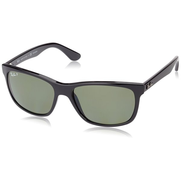 7411ae8fc8 Ray-Ban RB4181 601 9A Black Frame Polarized Green 57mm Lens Sunglasses