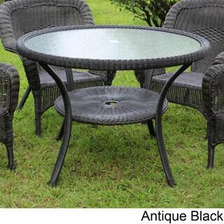 International Caravan Maui Resin Wicker/ Steel Outdoor Dining Table (5 options available)