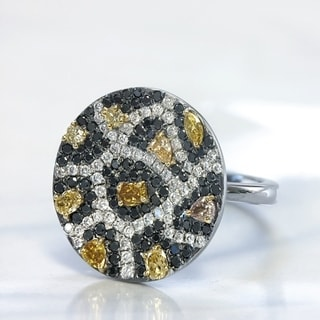 Lihara and Co. 18K Black and Yellow Gold 1.09ct TDW Diamond Ring