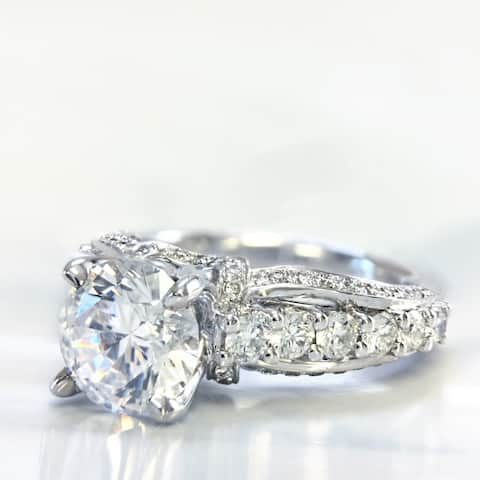 Lihara and Co. 18K White Gold 3/4 ct TDW Semi-Mount Diamond Engagement Ring