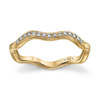 Lihara and Co. 18K Yellow Gold 0.09ct TDW Diamond Ring