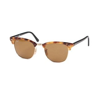 Ray-Ban RB3016 1160 Clubmaster Fleck Tortoise/Black Frame Brown Classic 51mm Lens Sunglasses